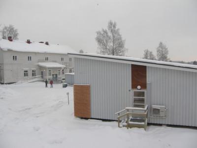 Lemin kunnantalo talvi Lemin kunnantalot talviasussa.