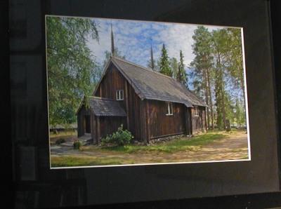 Sodankylän vanha kirkko valmistui vuonna 1689.