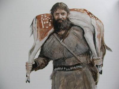 Mammutin aika -kirjaan Tom Björklund kuvasi myös itsensä.