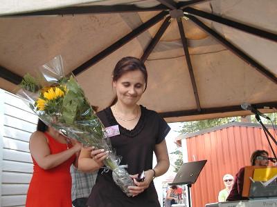 Sanna Gango sai kukkaser syntymäpäivänsä kunniaksi.