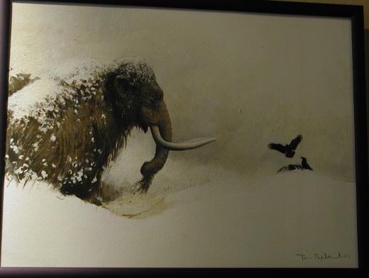 Savitaipaleen Seudun luonnonsuojeluyhdistyksen järjestämä Mammuttipäivä liittyy Mäntyperällä avoinna olevaan Tom Björklundin maalausten näyttelyyn.