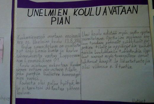Unelmien koulu nousee ainakin Kuukanniemeen, tämä uutinen ennakoi. Kalusteina on säkkituoleja ja liikuntaa on kahdeksan tuntia viikossa.
