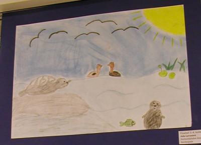 Savitaipaleen Heituinlahden koulun neljäsluokkalaisen Asa Lavosen työ oli myös finalistien joukossa.