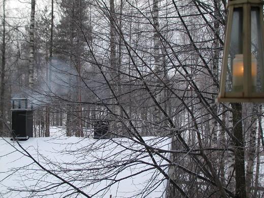 Joulusauna lämpiää jo. Lemin Kirjava toivottaa kaikille lukijoilleen rauhallisia joulunpyhiä.