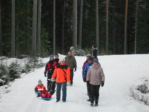 Savitaipaleen Hyrkkälässä talvilintulaskenta kerää aina ison porukan.