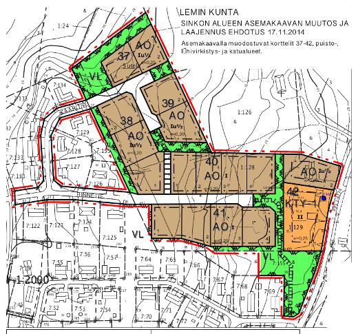 Kaavakartta: Lemin kunta.