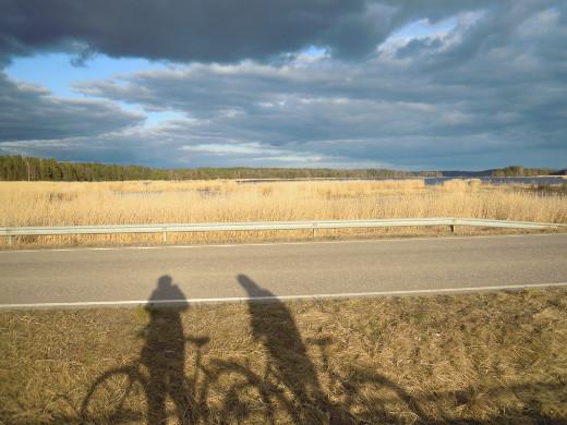 Terveisiä Haminasta! Täällä on mukava pyöräillä, kun mäet eivät haittaa. Pyörällä pääsee kätevästi lintulahdillekin.