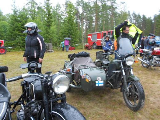 Ukrainalaisia moottoripyöriä oli paikalla kaksin kappalein.
