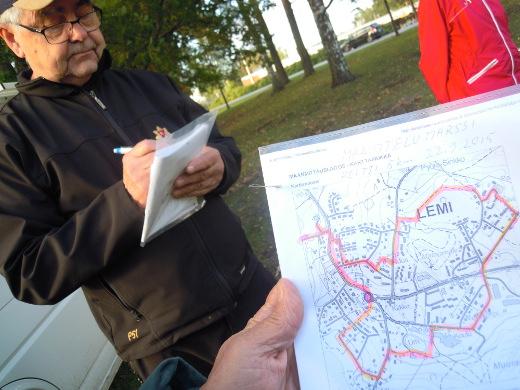 Juha Junnonen oli laatinut tasan viisi kilometriä pitkän reitin.