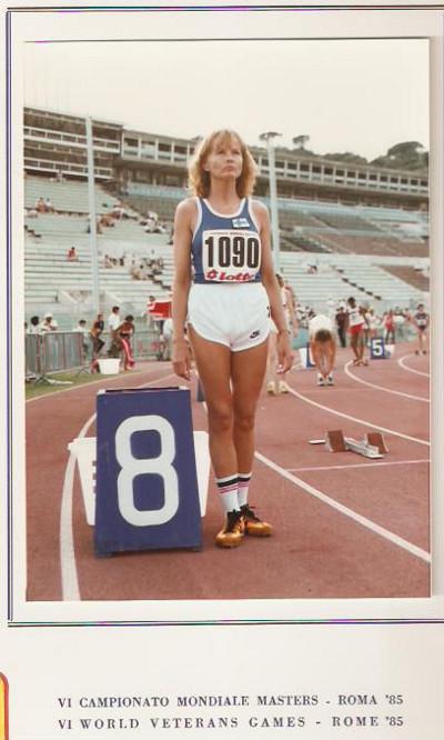 Leena Halme Roomassa 1984.