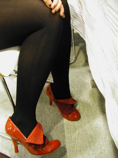 Juhlapuhujan kengät ovat tuliainen Lontoon olympialaisista.