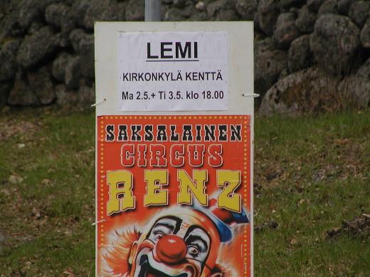 Saksalainen sirkus Ranz esiintyy kirkonkylässä maananantaina ja tiistaina.