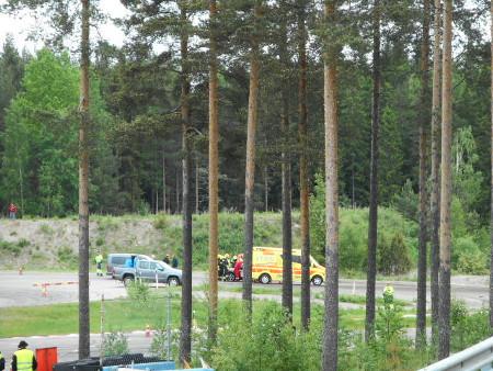 Keltaiset liput liehuivat, ja ambulanssia tarvittiin (