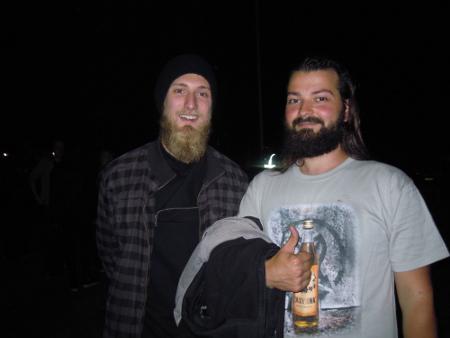 Uni on käynyt todeksi, iloitsivat Lukas (vas.) ja Peter perjantain konsertin jälkeen. He kiittivät Tapiolan hienoa akustiikkaa, upeata tunnelmaa ja tietenkin Stam1nan mahtavaa lavaesiintymistä.
