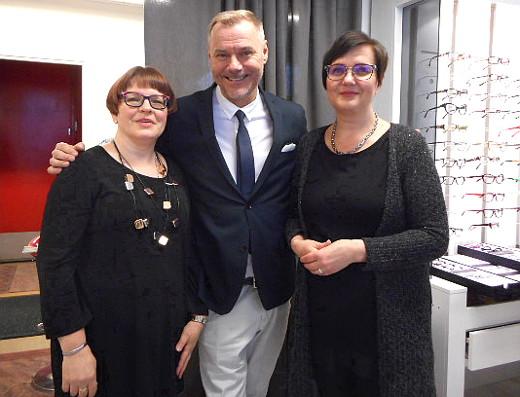 Juhlapäivän päähenkilöt olivat Tarja Punkka (vas.) Jaakko Selin ja Tanja Kunnas.