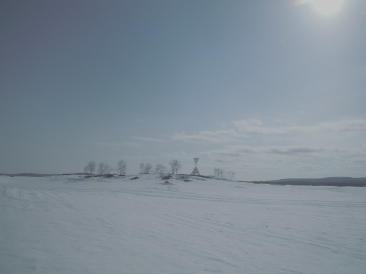 Inarinjärvellä riitti lunta, pakkasta ja auringonpaistetta.