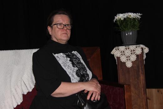 """Iltamavieraaksi saatiin """"Marttaliiton perustaja Lucina Hagman"""", Lappeen marttojen puheenjohtaja Tarja Koponen."""