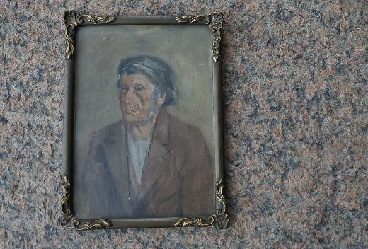 Esillä on pari työtä lemiläistaiteilijoista kuuluisimmalta, Elias Muukalta (1853-1938). Taavetti Aataminpoika Hovin muotokuva on vuodelta 1907.