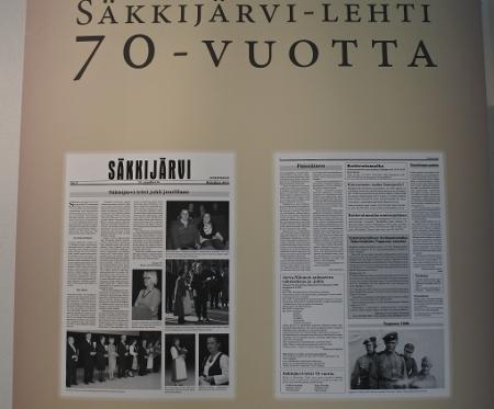 Näyttely on pystytetty Lemille varta vasten odottamaan viikonlopun Säkkijärvi-päiviä.