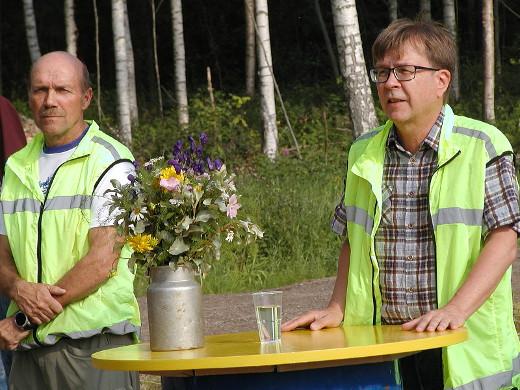 Terehdyksensä tilaisuuteen toi myös Lappeenrannan seudun ympäristötoimen johtaja Ilkka Oksman.