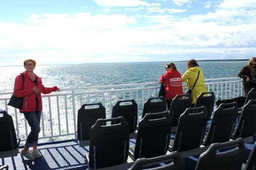 Matka tarjosi monta merielämystä. Tässä ollaan jo retken toisessa päivässä ja matkalla Saarenmaalta Hiienmaalle.