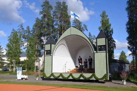 Laululavan avajaisia juhlittiin 26.päivänä heinäkuuta.