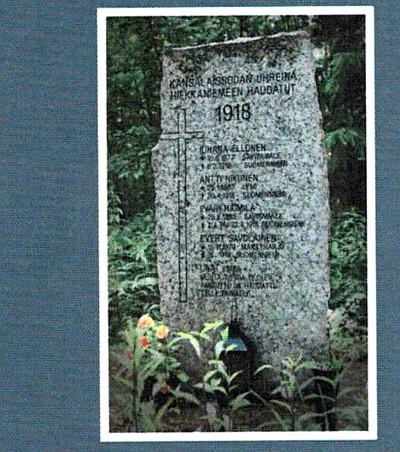 Paasi Hiekkaniemessä kertoo viidestä valkoisten teloittamasta miehestä. Yksi heistä oli Antti Nikunen. Kuva kirjan takakannesta.
