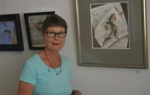 Mato-onginta on yksi Pirjo Lindbergin harrastuksista, mikä on nähtävillä hänen akvarelleissaankin.
