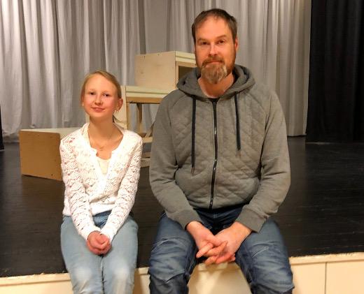 Tapiolan näyttämö ei ollut ennestään tuttu Helmi ja Sami Heinilälle.