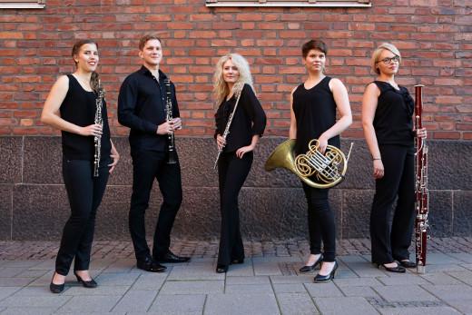 Radiossa kuullaan puhallinkvintetti 5parts'in konsertti. Kuva Mari Lehtisalo.
