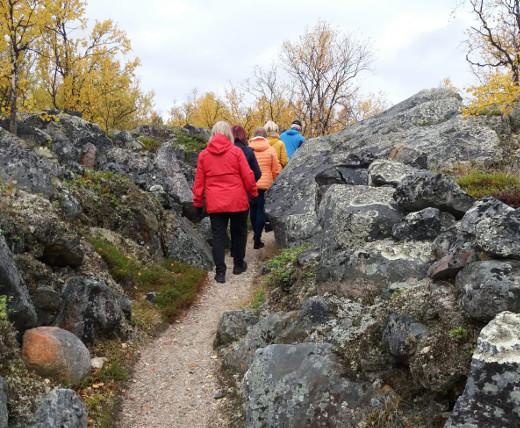 Saksalaisten rakentama Jämärän linnoitus oli yksi retken kohteista.