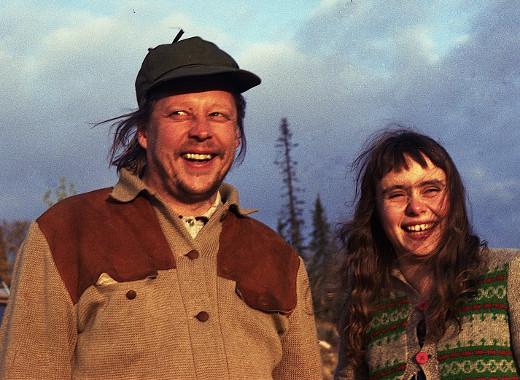 """Rauni Mollberg ja Maritta """"Ruttu"""" Viitamäki elokuvan kuvauksissa."""
