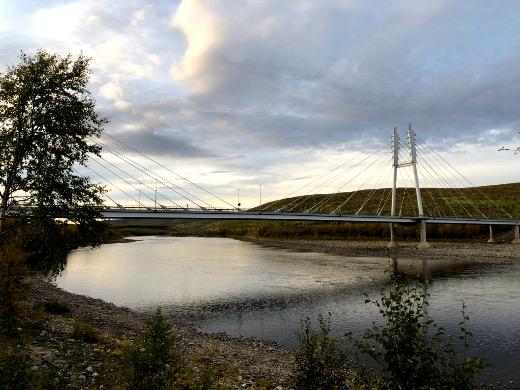 Tenon ylittävä silta Norjaan on näinä aikoina kovin hiljainen.