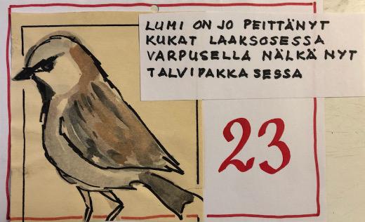 Piirros ja riimit Sirkka-Liisa Vaalivirta