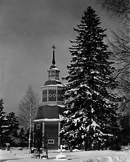 Lemin kirkon kuusi 1940-luvulla Kuva Asseri Kantola/Taikalyhty.