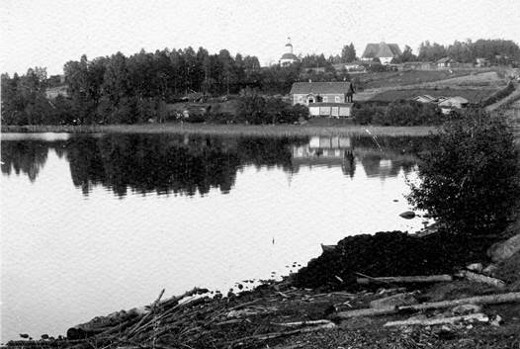 Lemin kirkonmäki 1910-luvulla.