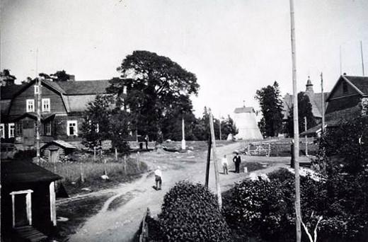 Lemin kirkonmäki 1920-luvulla.