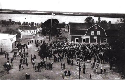 Lemi 250-vuotisjuhlat kirkonmäellä vuonna 1938.