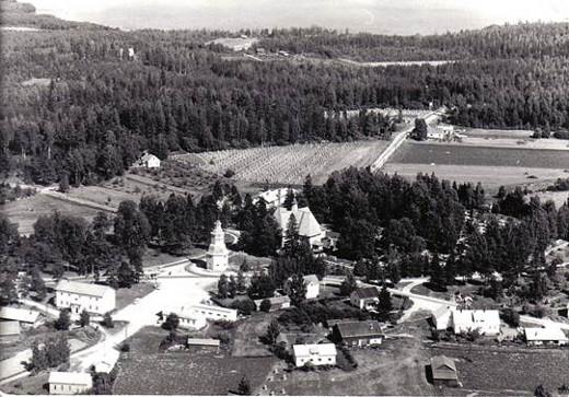Lemin kirkonmäki 1950-luvulla.